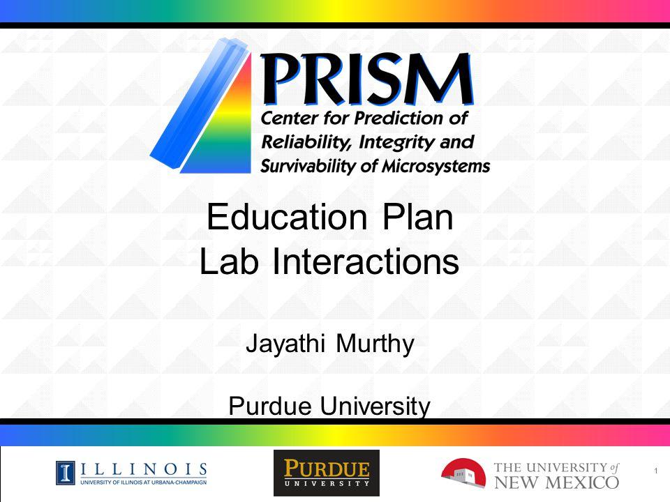 11 Education Plan Lab Interactions Jayathi Murthy Purdue University