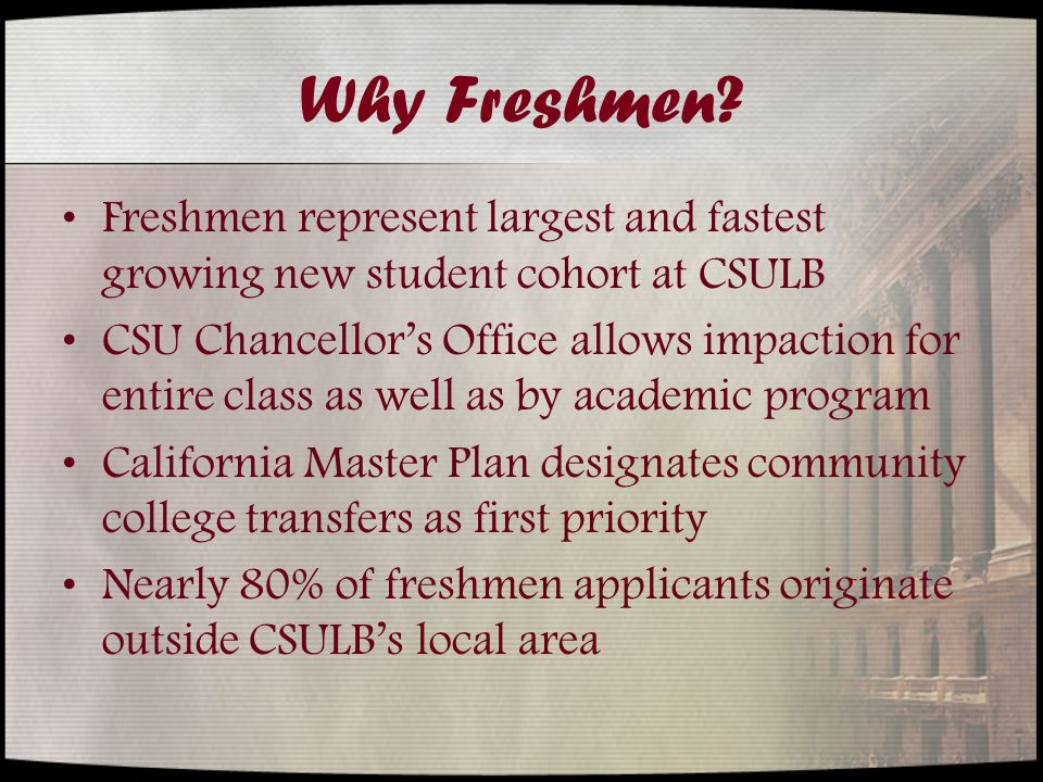 Why Freshmen.