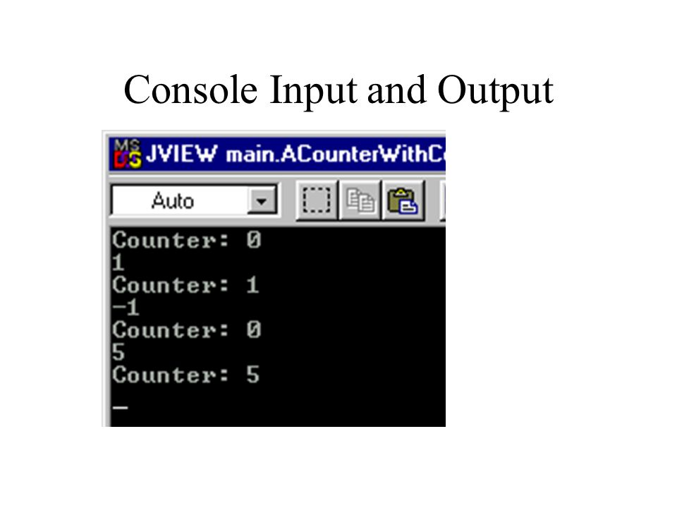 Console Input and Output