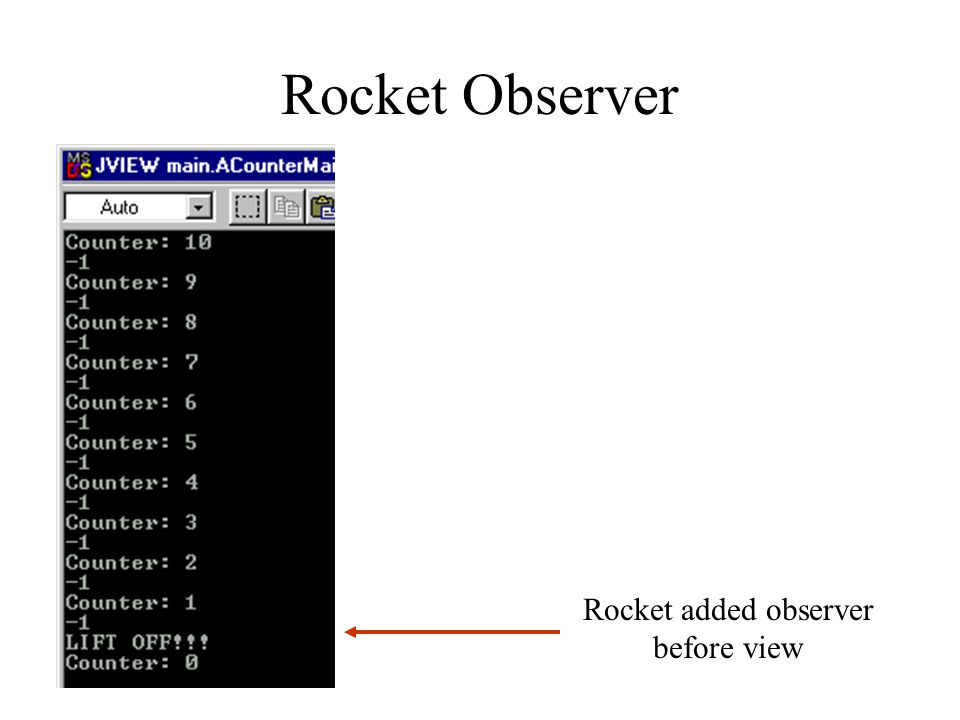 Rocket Observer Rocket added observer before view