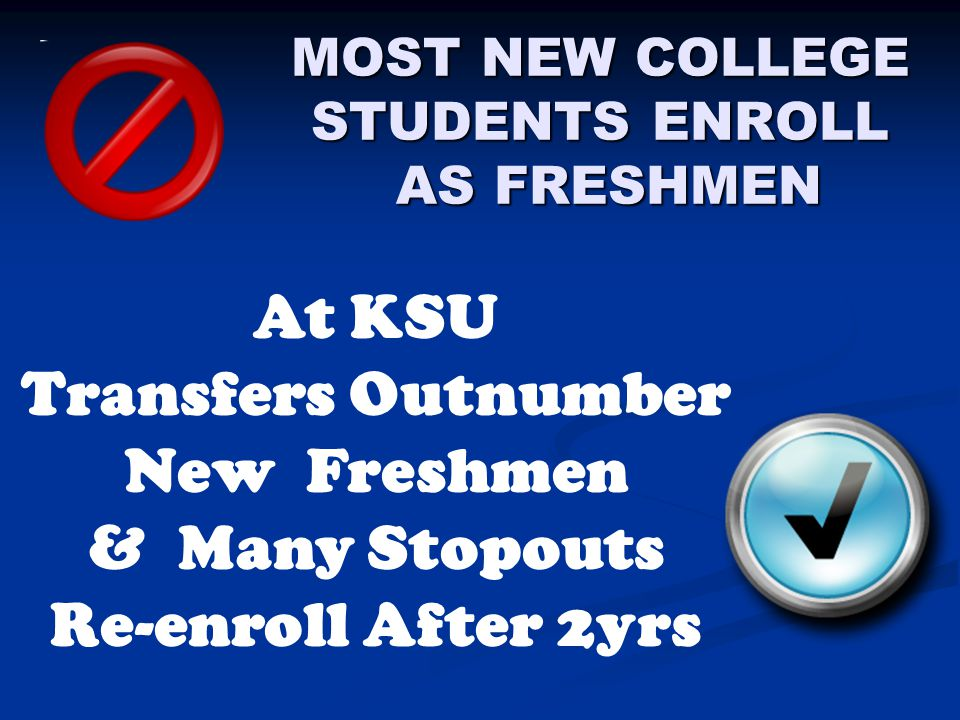 DIFFERENT STORIES  6Yr Rate: Only graduates who started as full-time freshmen and who completed in 6 years count, implying that others dropped out  Deg Comp Anal: Of the bachelor graduates who started at KSU as freshmen, 20% took longer than 6 years to complete their degrees, and their average age was 31 (nontrads)