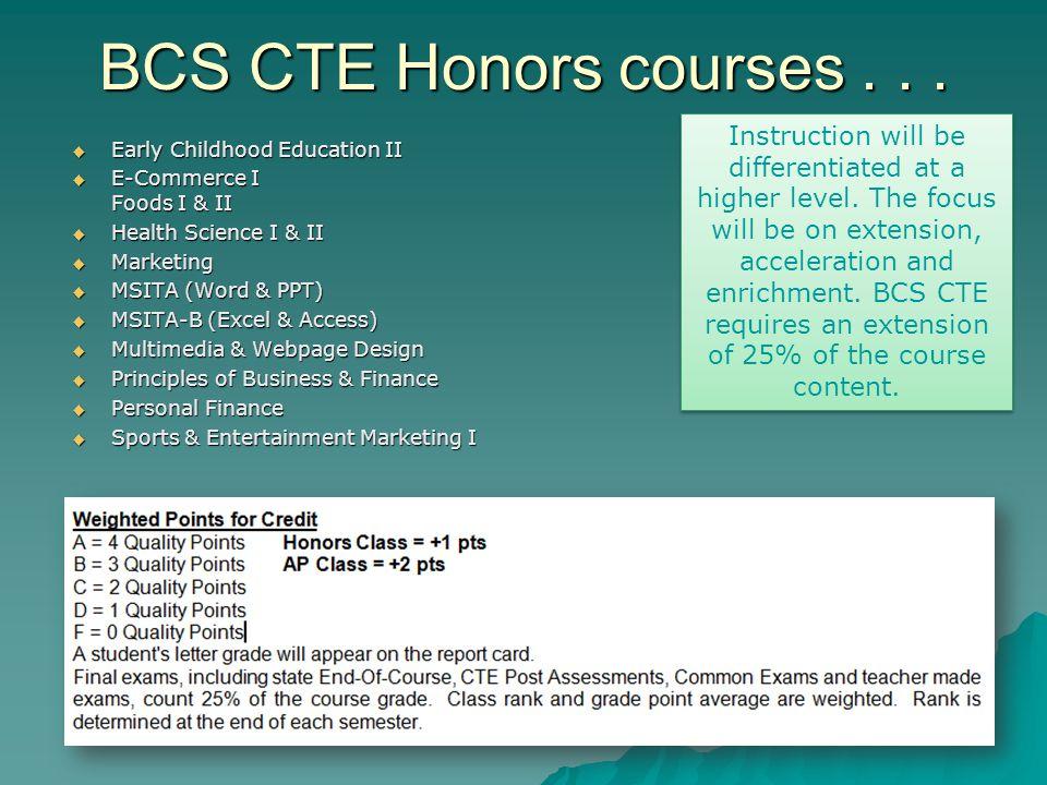  Early Childhood Education II  E-Commerce I Foods I & II  Health Science I & II  Marketing  MSITA (Word & PPT)  MSITA-B (Excel & Access)  Multi