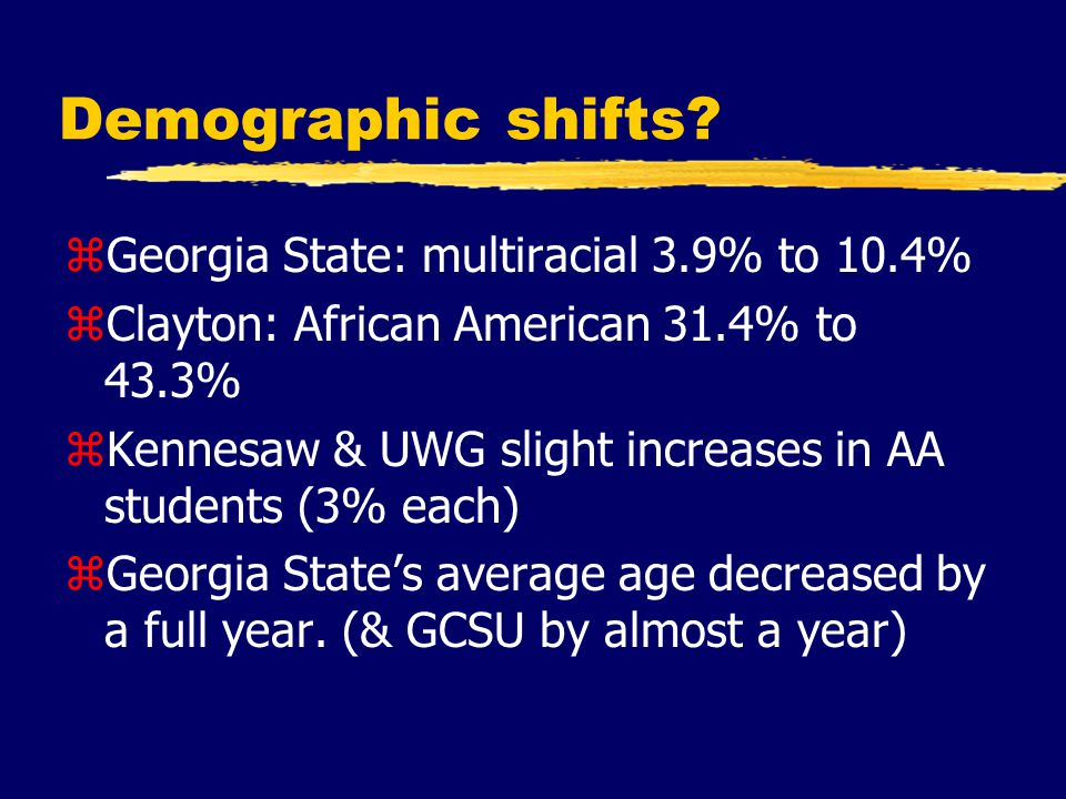Demographic shifts.