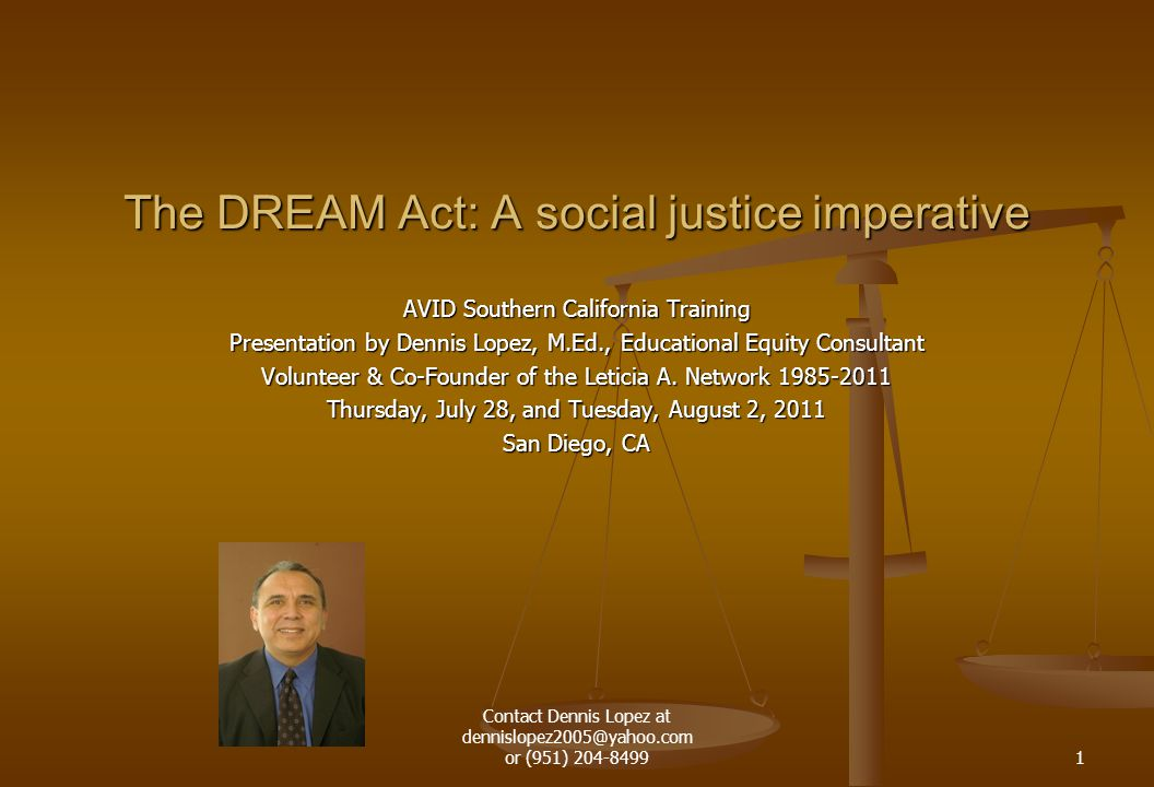 AVID Southern California Training Presentation by Dennis Lopez, M.Ed., Educational Equity Consultant Volunteer & Co-Founder of the Leticia A. Network