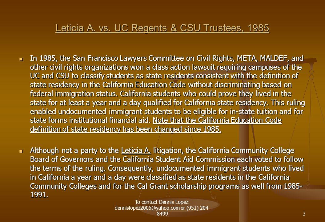 Leticia A. vs.