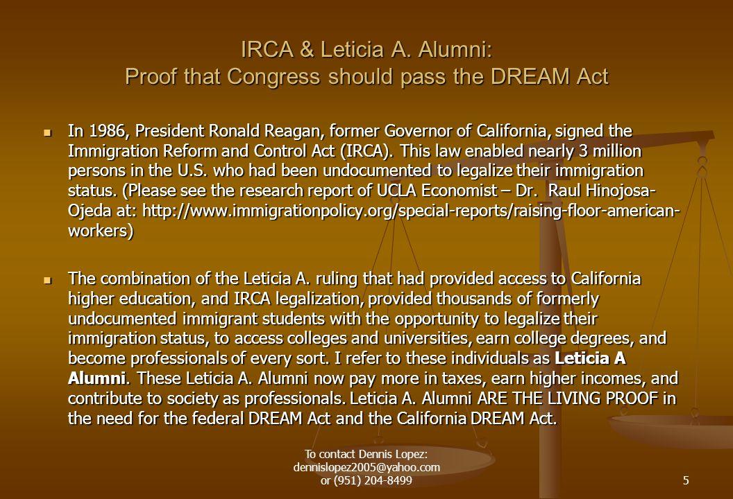 IRCA & Leticia A.