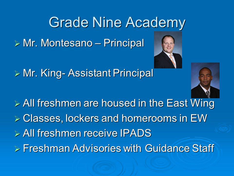 Grade Nine Academy  Mr.Montesano – Principal  Mr.