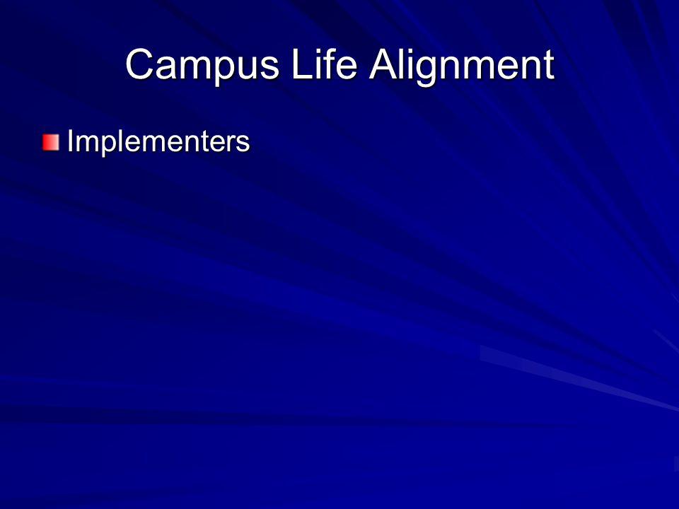 Campus Life Alignment Implementers