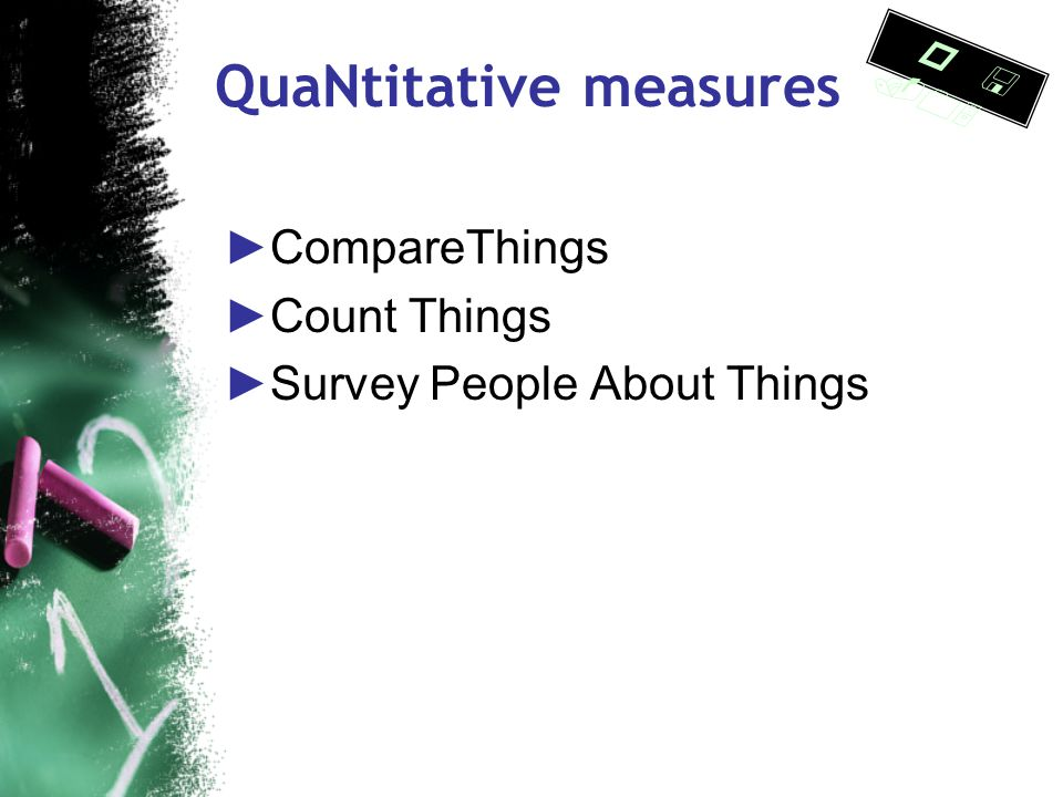 Qua L itative Measures ►Think Aloud Protocols ● Studied how users navigate a library web site ( Cockrell & Jayne ) ►Usability testing ● Examined stude
