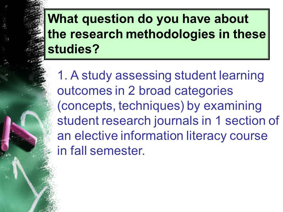Research Methodology 101 Yes.