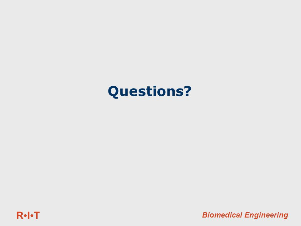 RITRIT Biomedical Engineering Questions