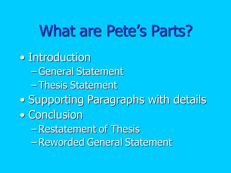 What does Pete Paper Look Like.