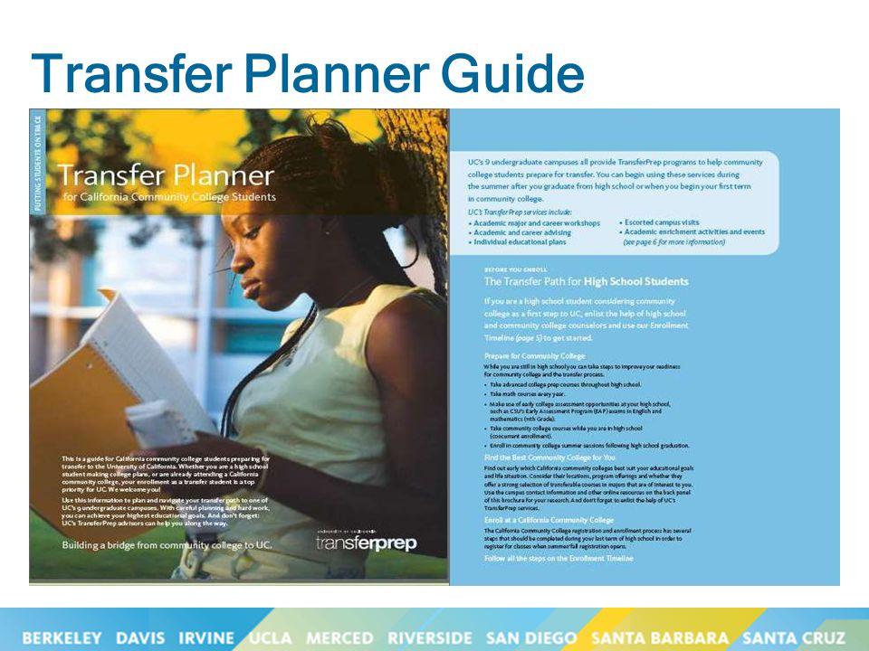 Transfer Planner Guide