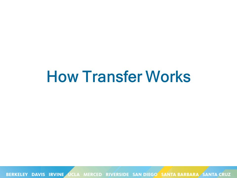 How Transfer Works