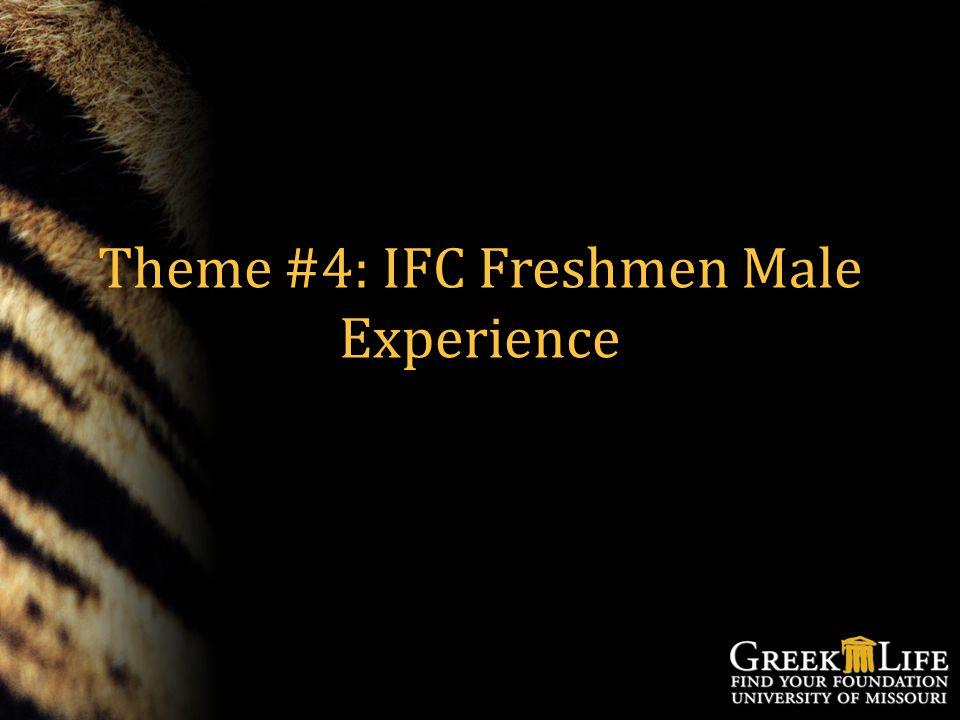 Theme #4: IFC Freshmen Male Experience
