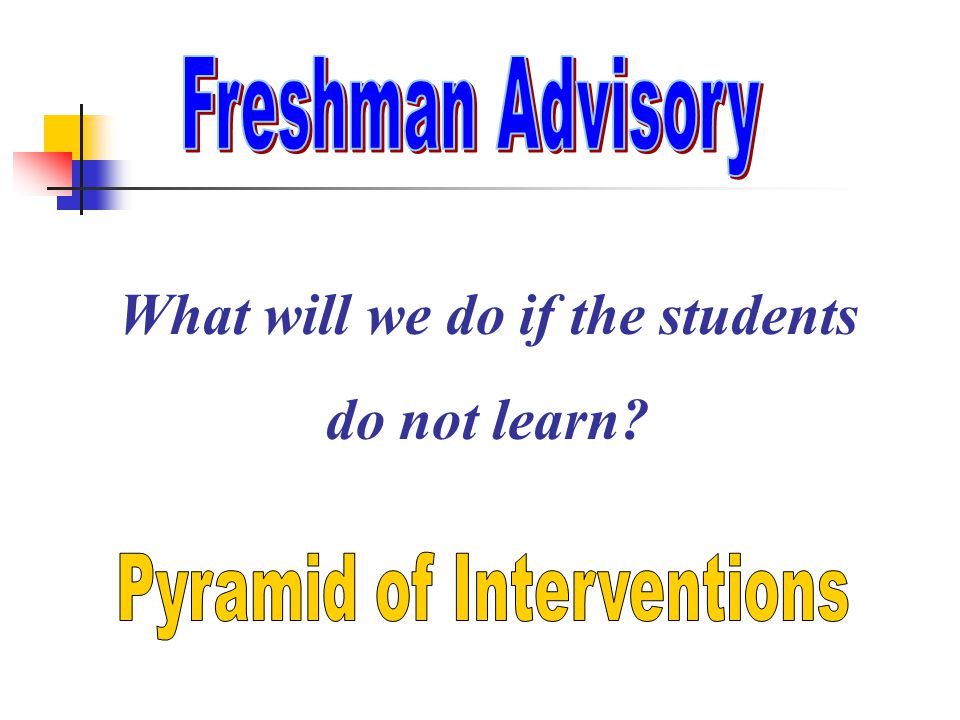 Answers the third question: What will we do if the students do not learn?