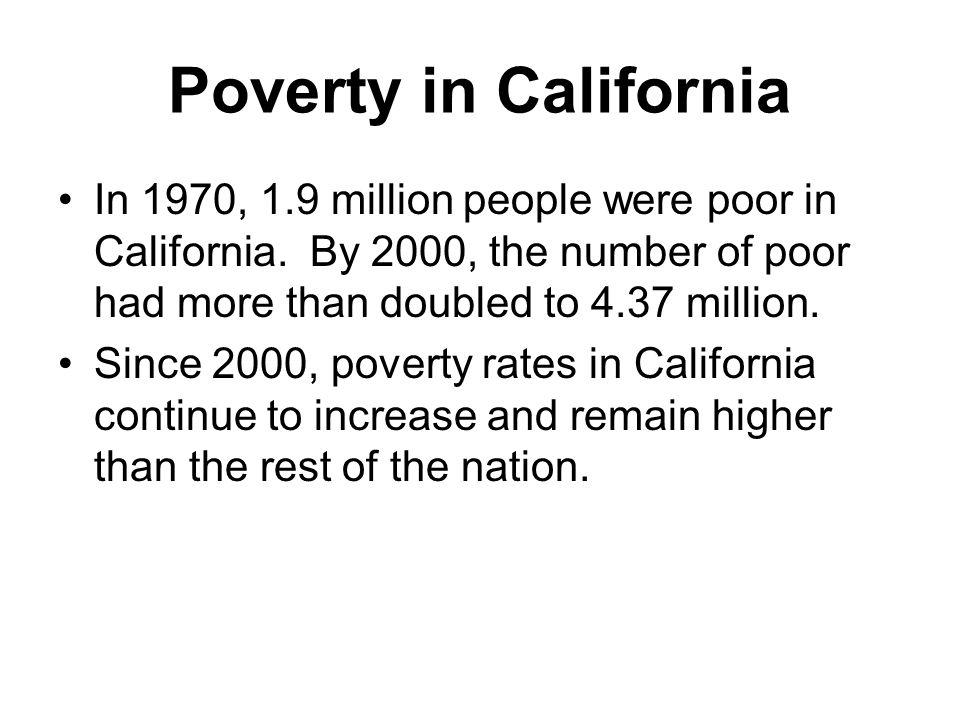 In 1970, 1.9 million people were poor in California.