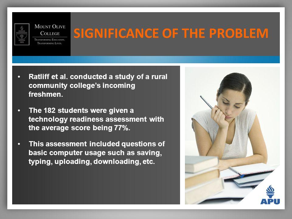 SIGNIFICANCE OF THE PROBLEM Ratliff et al.