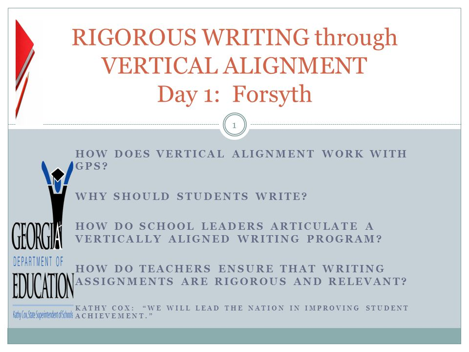 Activity 3: Recognizing Rigor 12 Please pair with another member of the group Receive two different writing samples Receive two Rigor and Relevance rubrics Evaluate your samples Discuss why you rated as you did General discussion with the group Kathy Cox: We will Lead the Nation in Improving Student Achievement.