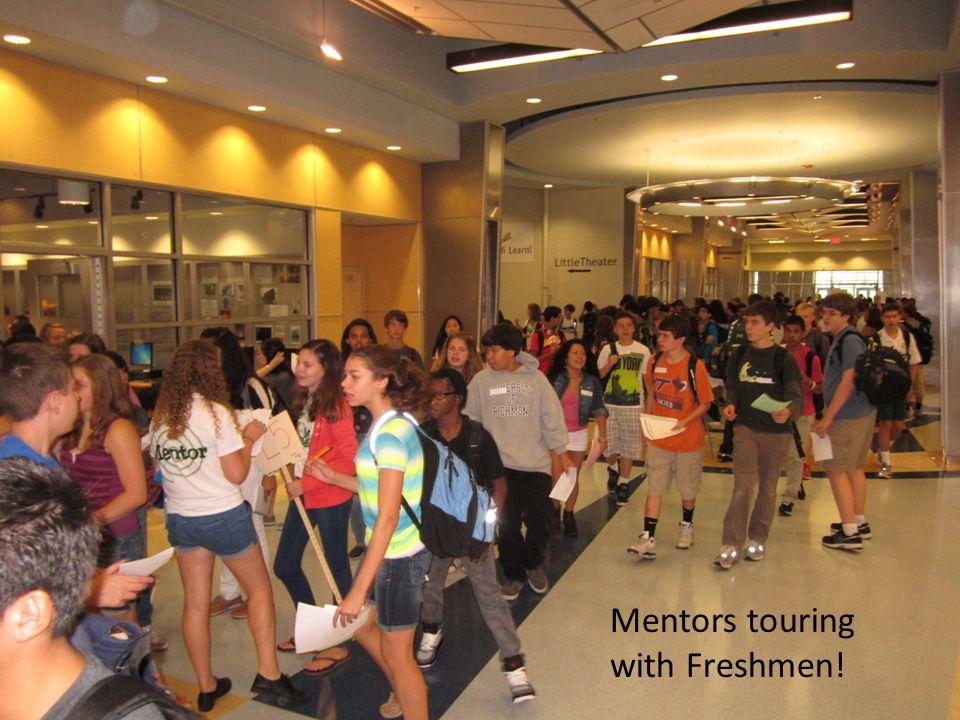 Mentors touring with Freshmen!
