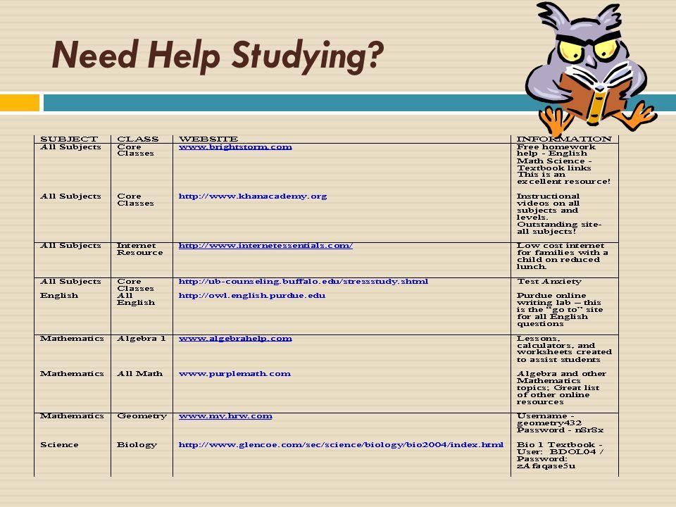 Need Help Studying?