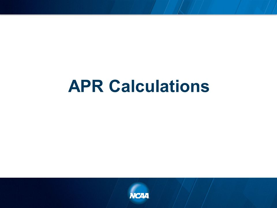 APR Calculations