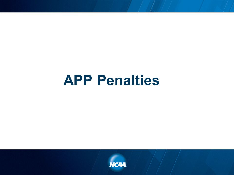 APP Penalties