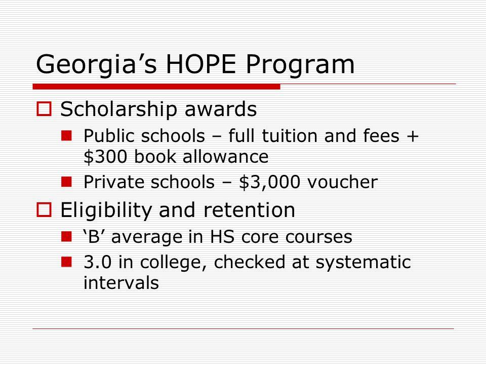 Georgia's HOPE Program