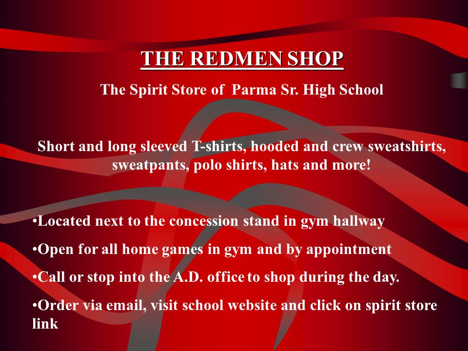 THE REDMEN SHOP The Spirit Store of Parma Sr.