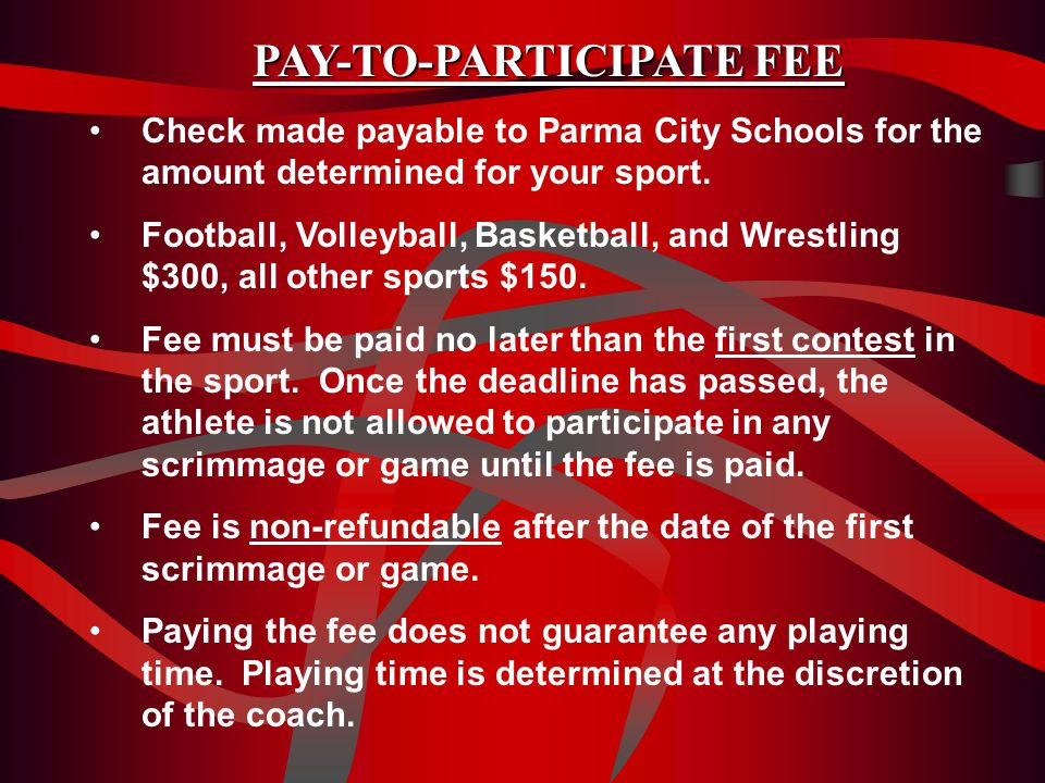 Parma High Athletic Code of Conduct Athletic participation is a privilege, not a right.