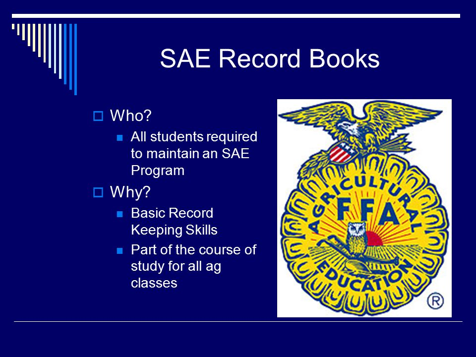 SAE Record Books  What Idaho SAE Record Book Hard Copy OR Electronic Version  How.