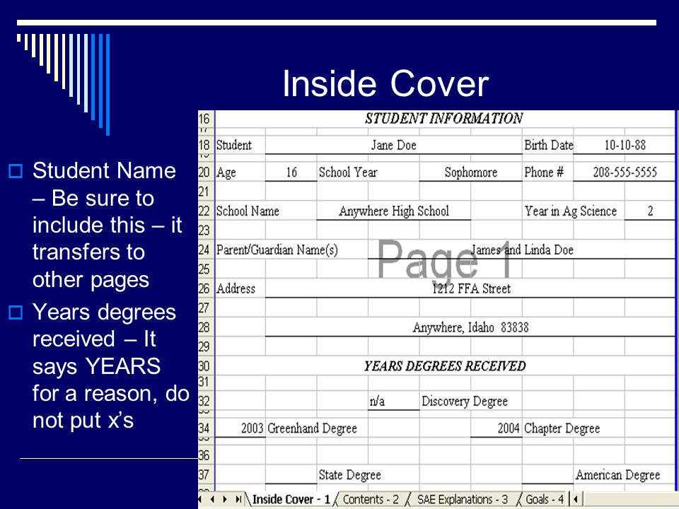Inside Cover SAE Programs in this book – Type these in!.