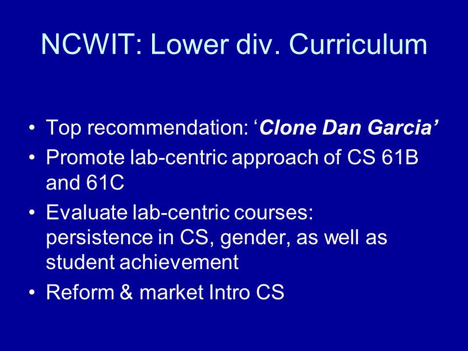NCWIT: Lower div.