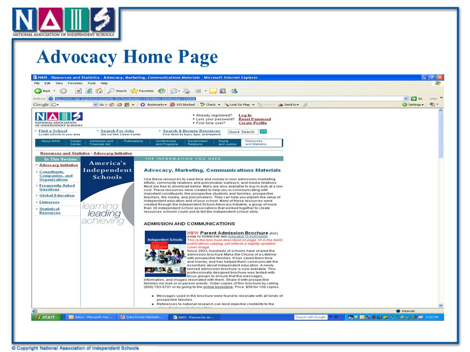 Advocacy Home Page