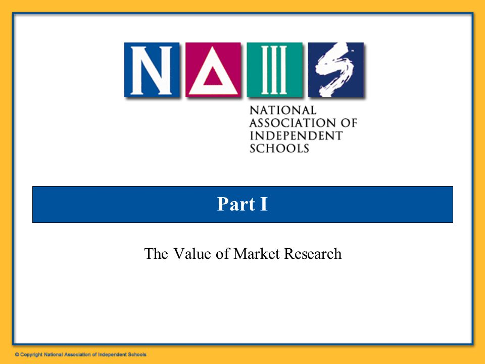 Part I The Value of Market Research