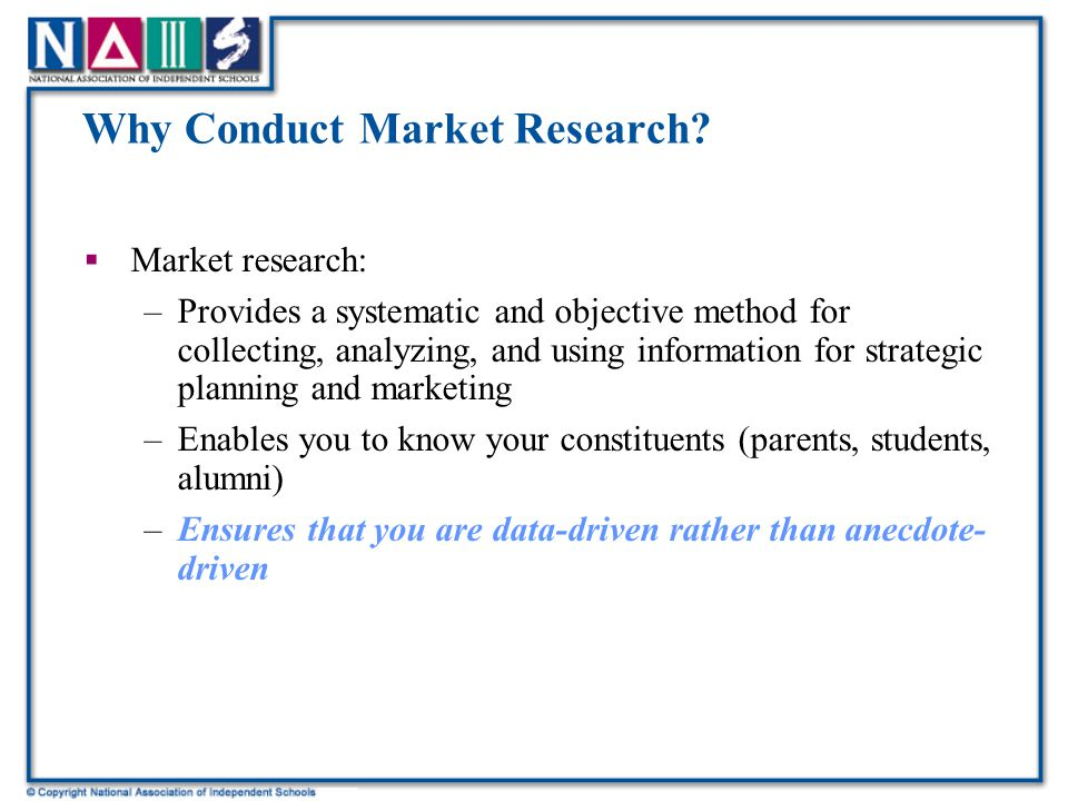 Why Conduct Market Research.