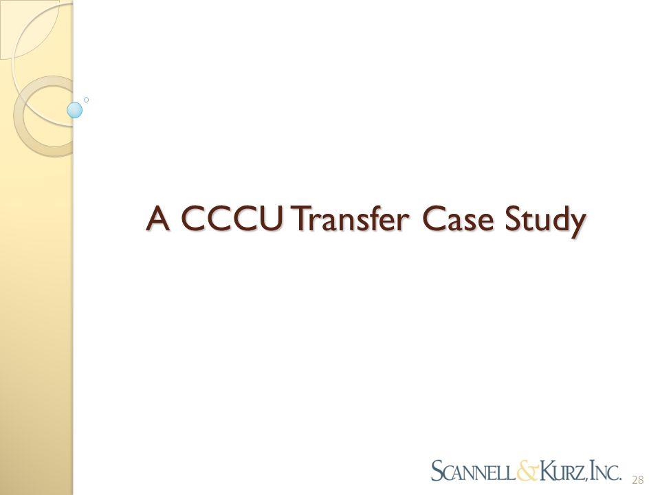 A CCCU Transfer Case Study 28