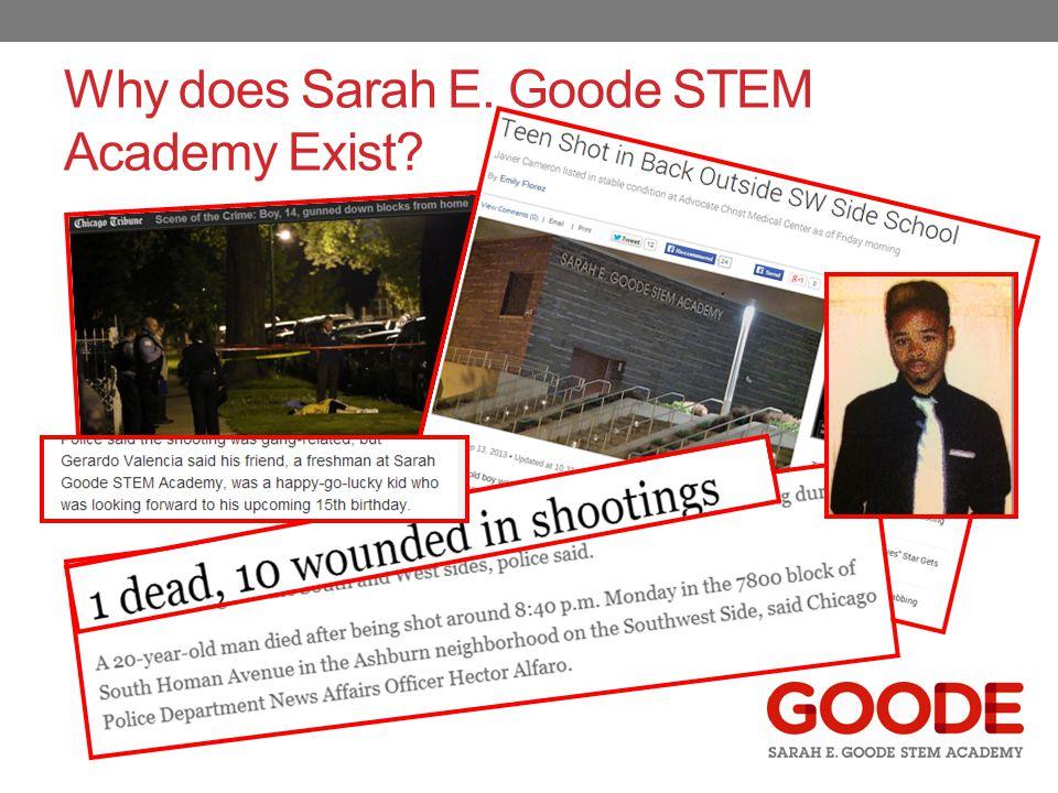 Why does Sarah E. Goode STEM Academy Exist?