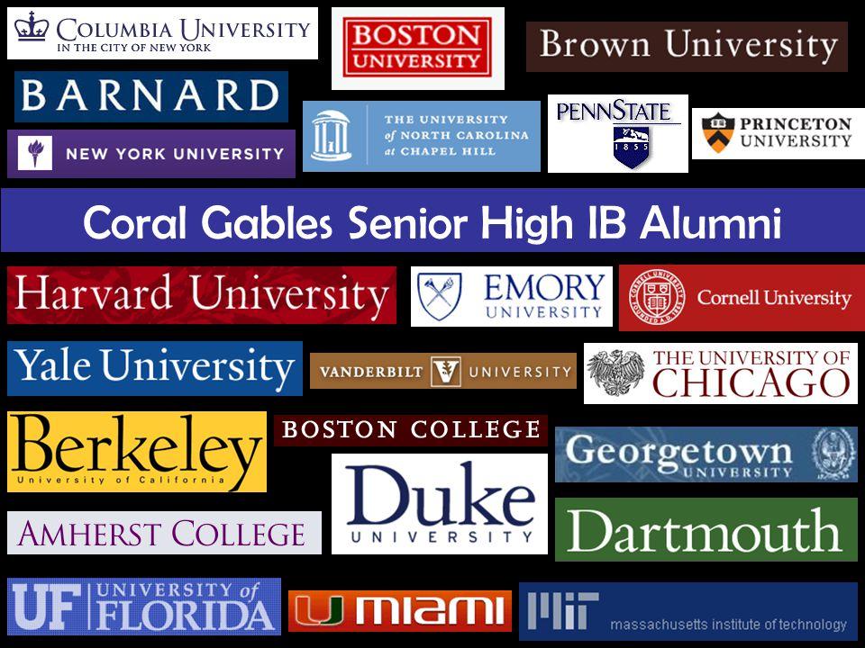 Coral Gables Senior High IB Alumni