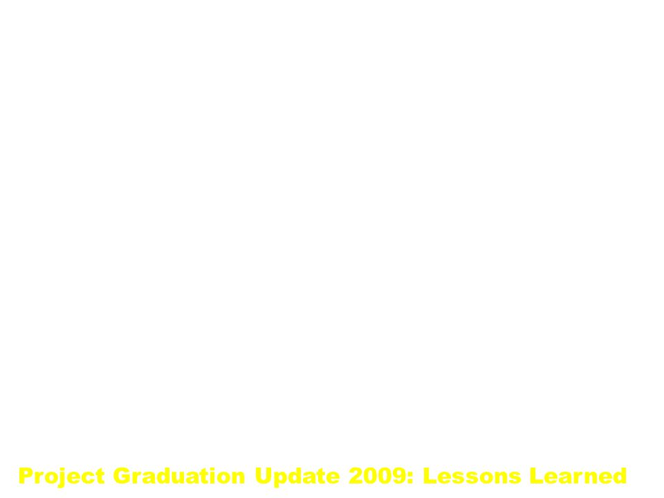 Project Graduation Update 2009: Lessons Learned