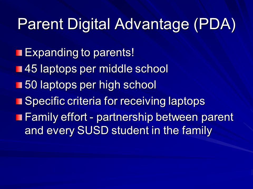 Parent Digital Advantage (PDA) Expanding to parents.