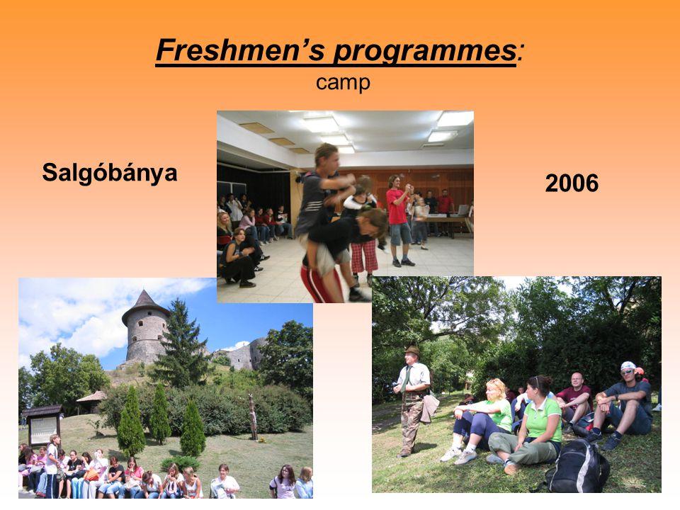 Freshmen's programmes: camp Salgóbánya 2006