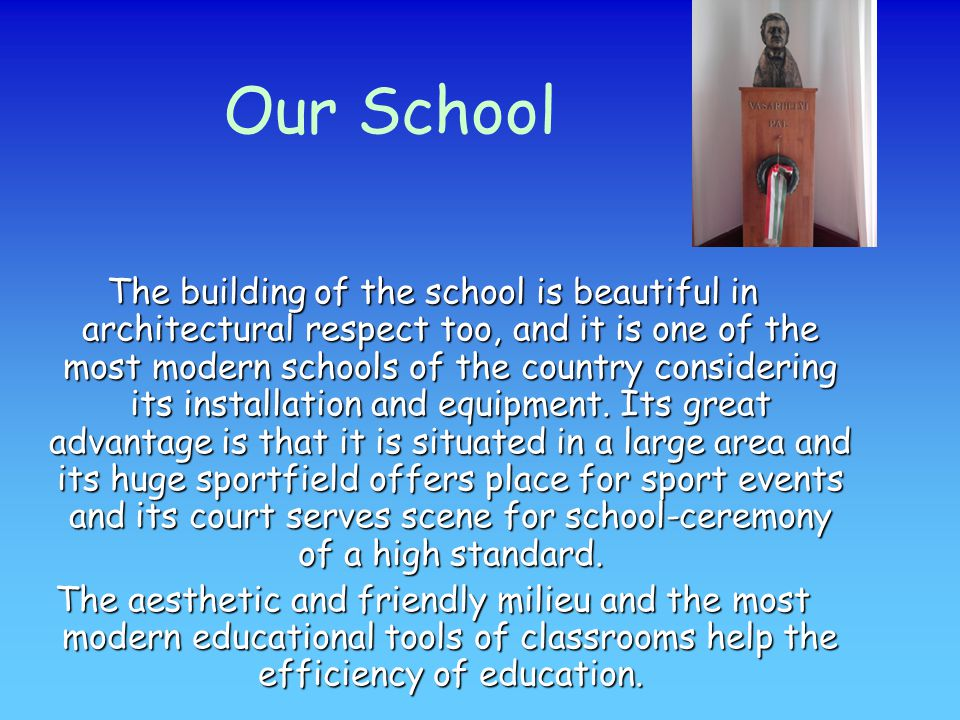 Summary The school's community is good.There are a lot of interesting programmes.