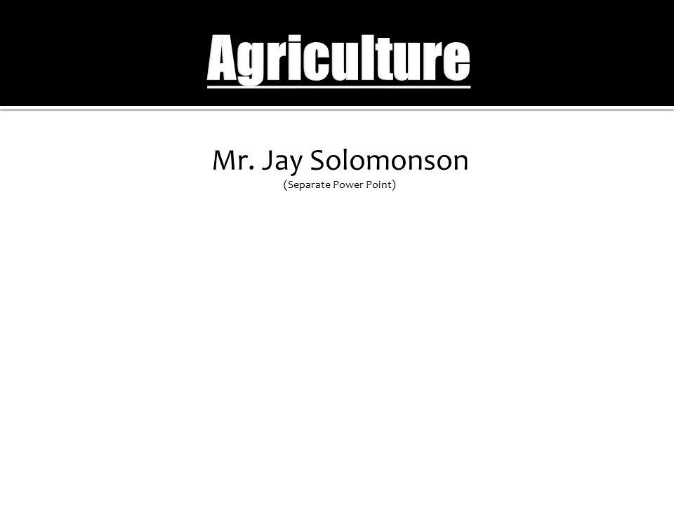 Mr. Jay Solomonson (Separate Power Point)