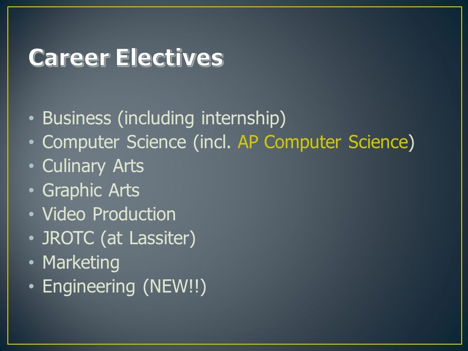Business (including internship) Computer Science (incl.