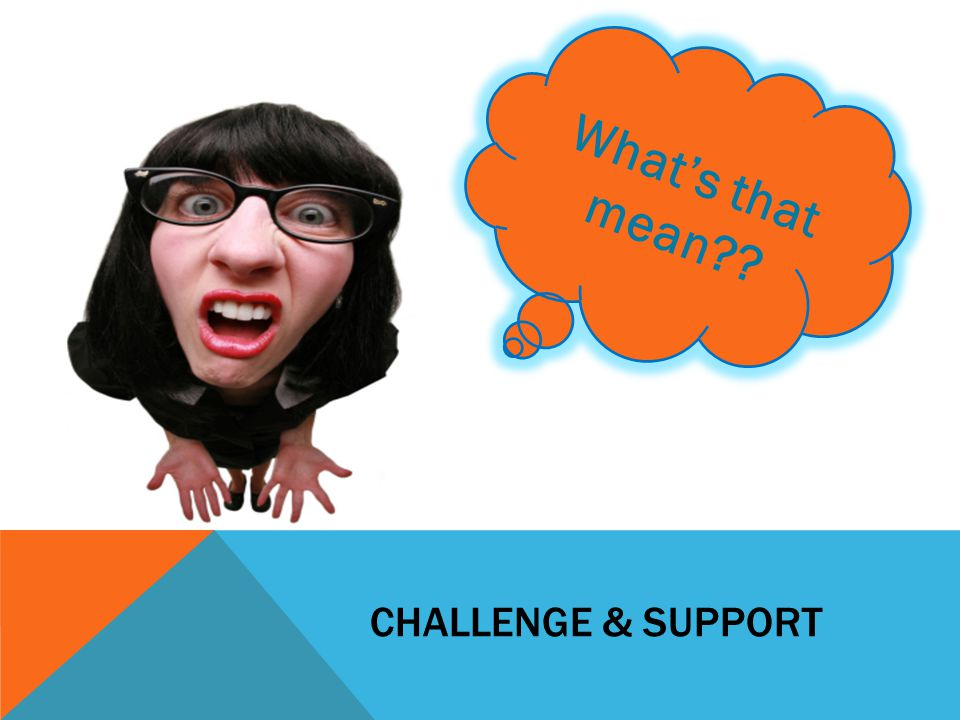 CHALLENGE & SUPPORT What's that mean??