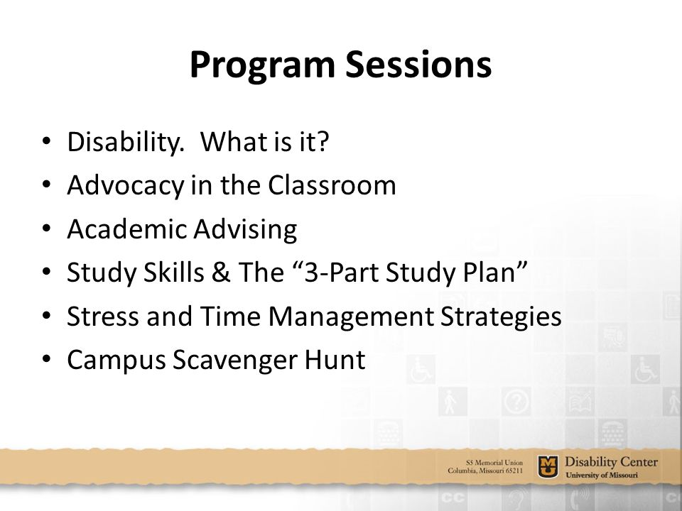 Program Sessions Disability. What is it.