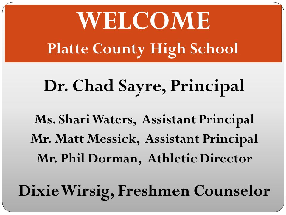 PIRATES SET YOUR SAILS For Adventure At Platte County High School To schedule an appointment with Mrs.