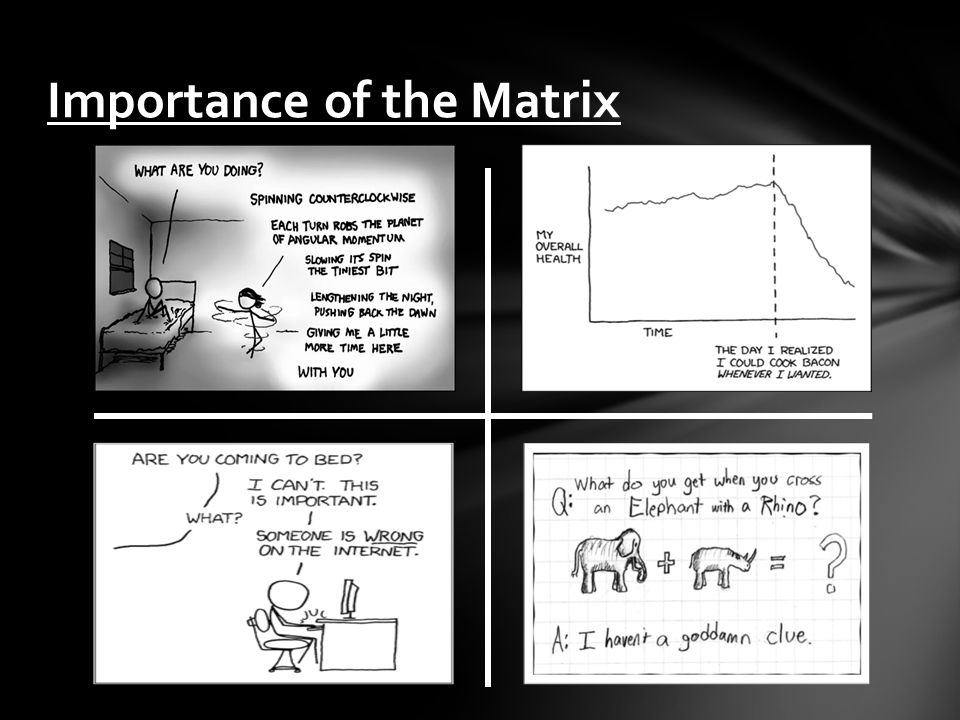 Importance of the Matrix