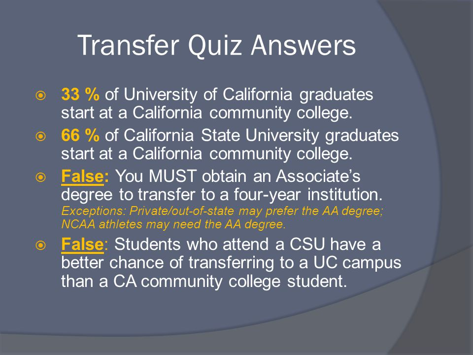 Tips for Transfer Success  Community college IS college.